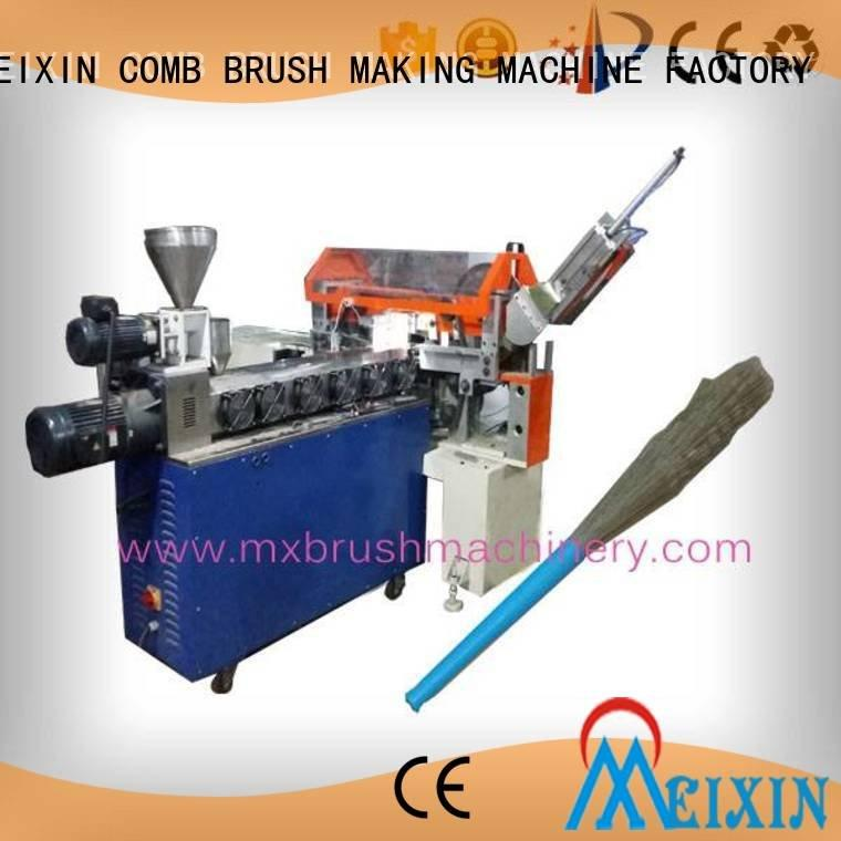 MEIXIN Brand pneunatic Manual Broom Trimming Machine twisted flaggable