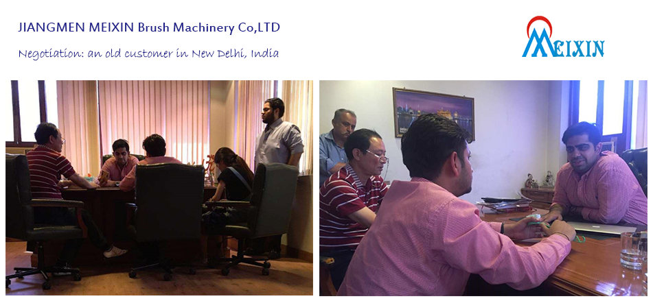Business Negotiation: Brushes making machine customers in New Delhi India