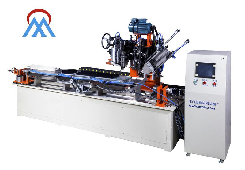 MEIXIN high productivity Industrial Roller Brush And Disc Brush Machines tufting for PET brush