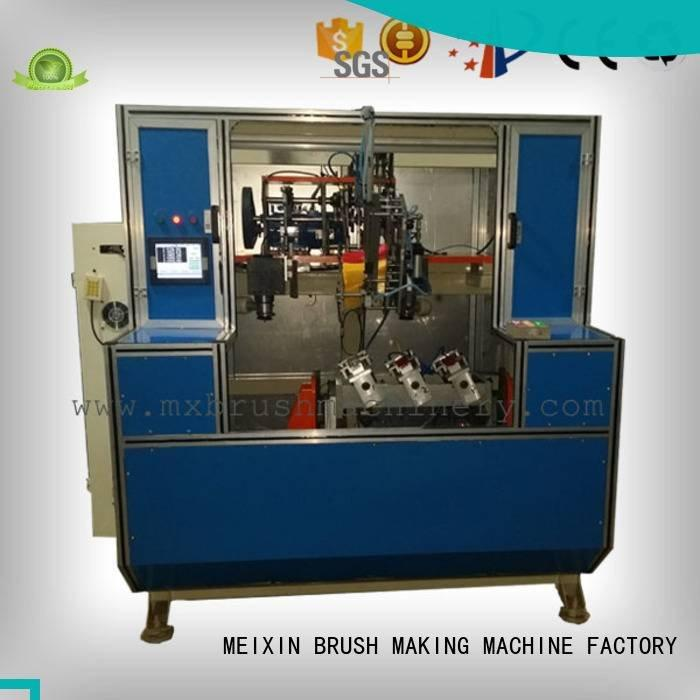 axis heads brush drilling MEIXIN Brush Drilling And Tufting Machine
